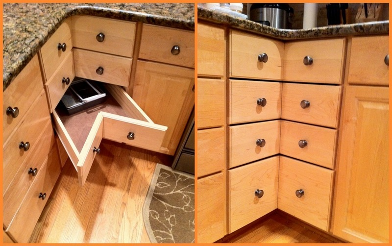 DIY Corner Cabinet Drawers