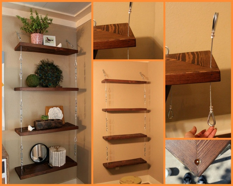 How to build a space-saving hanging shelf