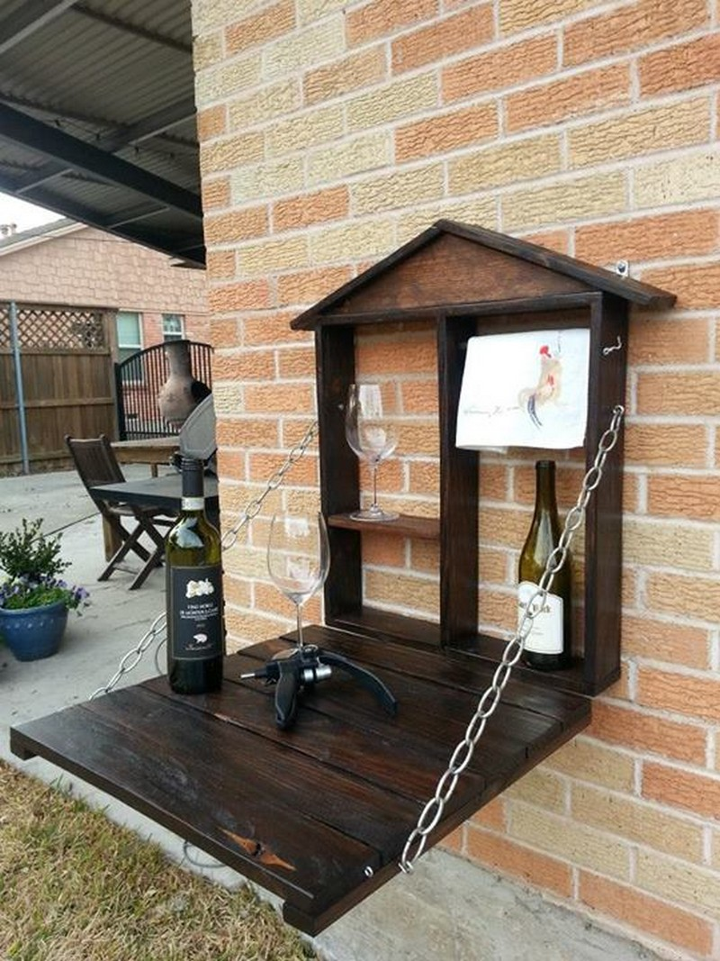 Pallet Fold Down Outdoor Bar | The Owner-Builder Network
