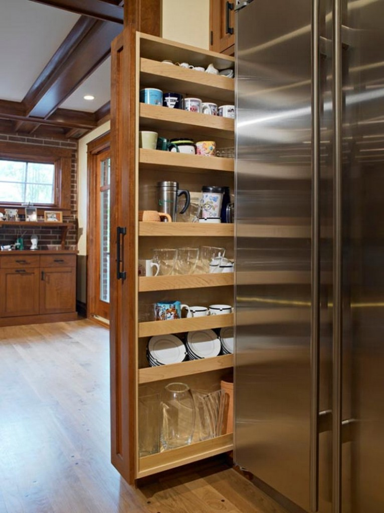 Pantry Cabinet Ideas - Pull out pantry
