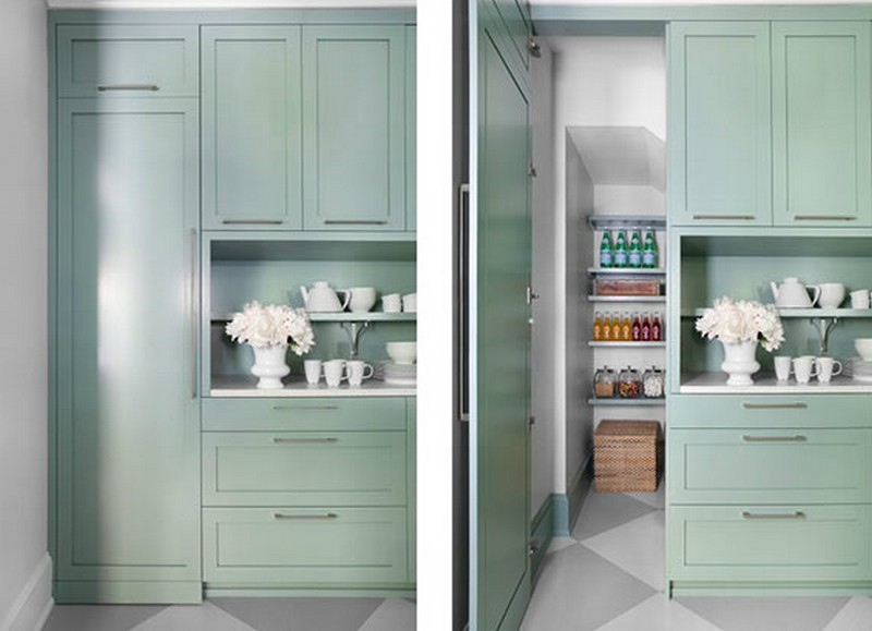 Pantry Cabinet Ideas - Hidden Pantry