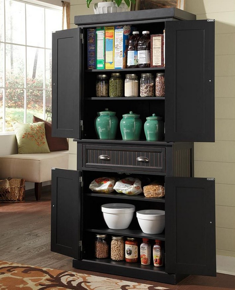 Pantry Cabinet Ideas - Black Pantry