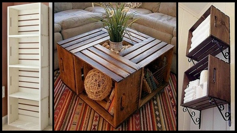Repurposed Wooden Crate Ideas