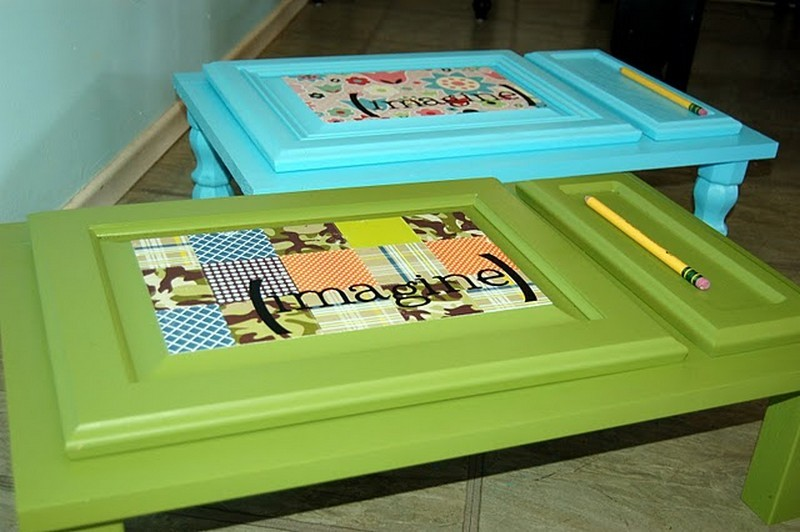 Repurposed Door - Kids' Table