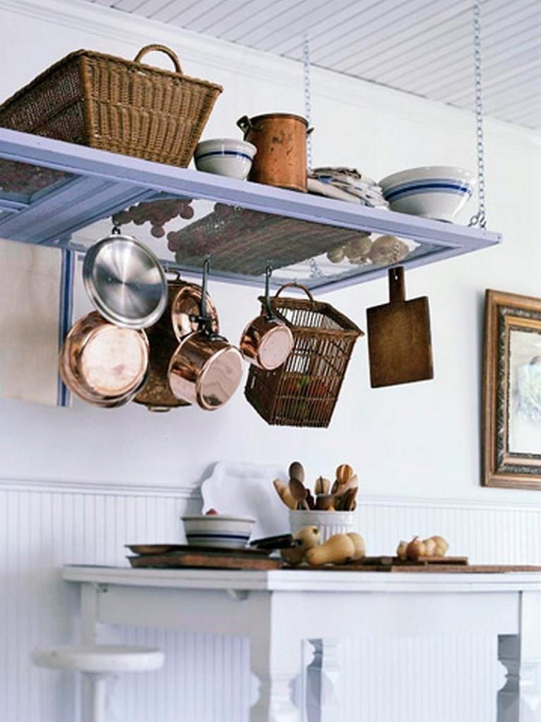 Repurposed Door - Pots Hanger
