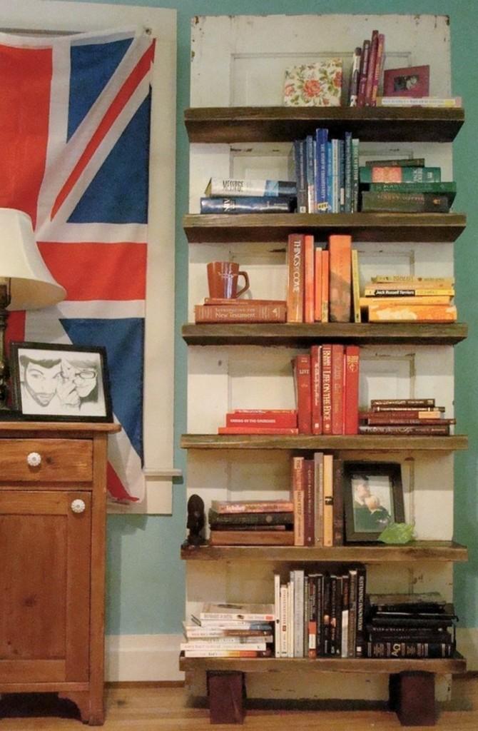 Repurposed Door - Bookshelf