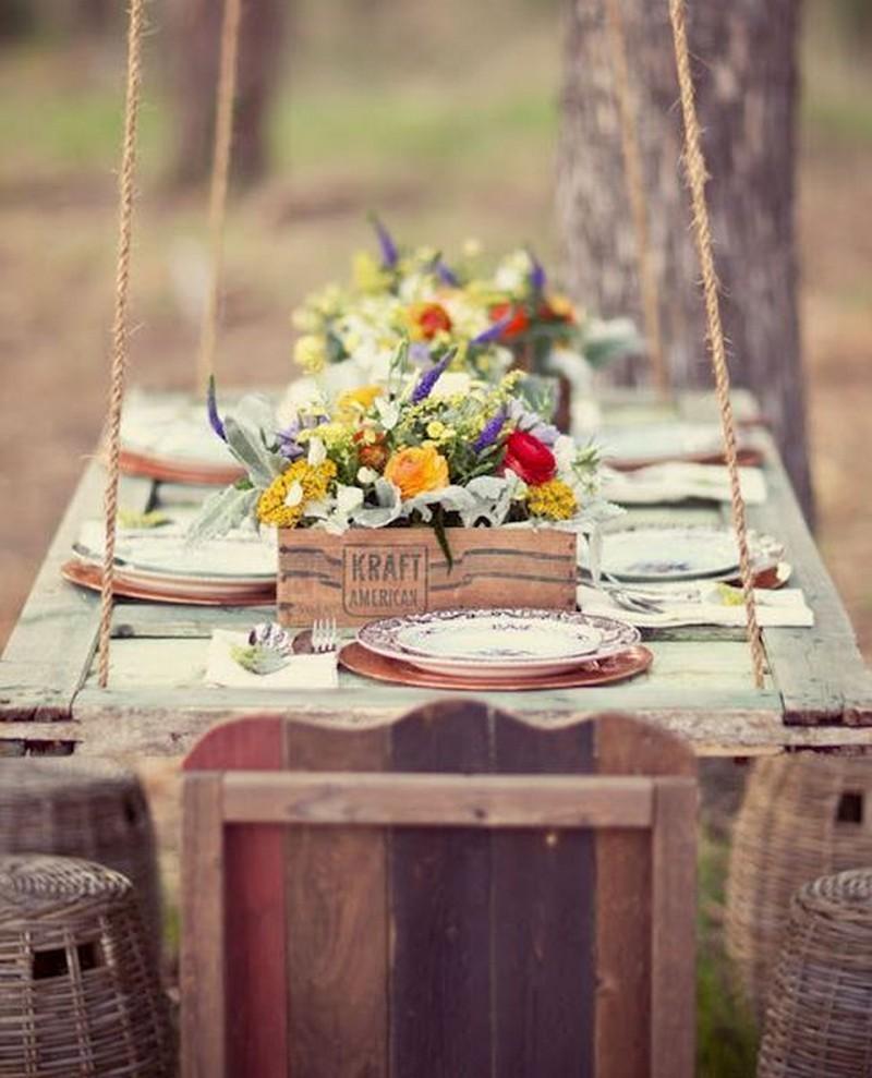 Repurposed Door - Outdoor Dining Table