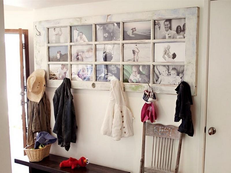 Repurposed Door - Picture Frame & Wall Coat Hanger