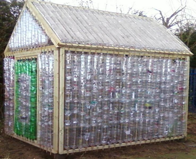 Repurposed Plastic Bottle Greenhouses DIY Bottles