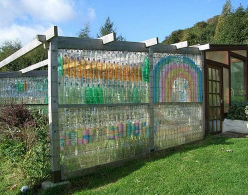 Plastic Bottle Carport : Repurposed plastic bottle greenhouses the owner builder