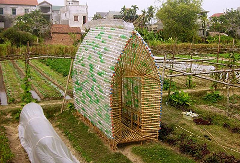 Repurposed Plastic Bottle Greenhouses