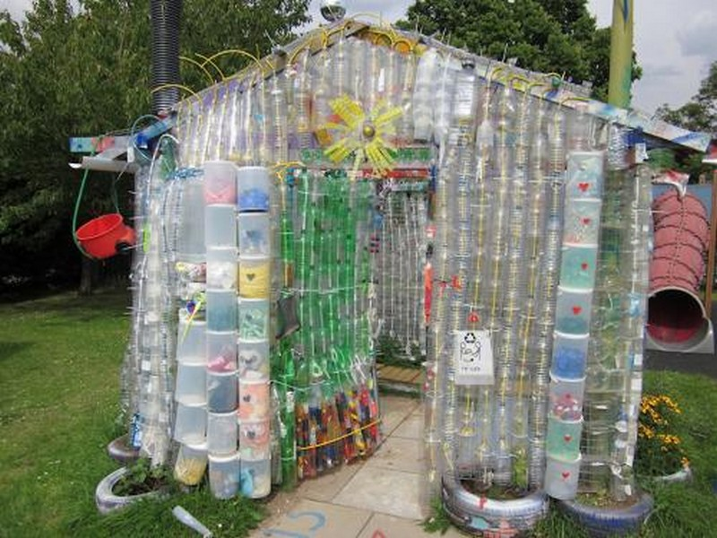 Repurposed Plastic Bottle Greenhouses