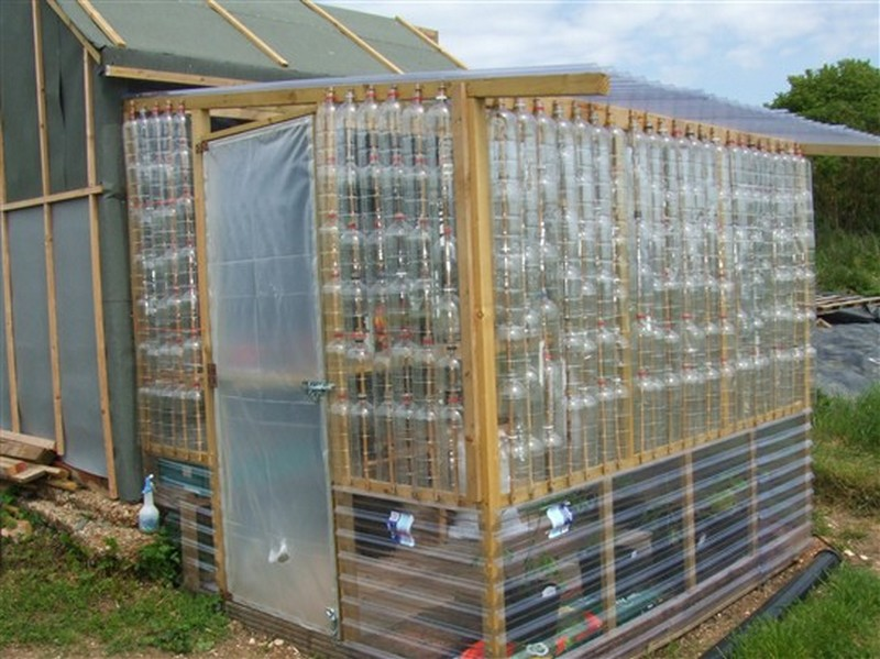 Repurposed plastic bottle greenhouses diy plastic bottles - How to build an alley out of reused bricks ...