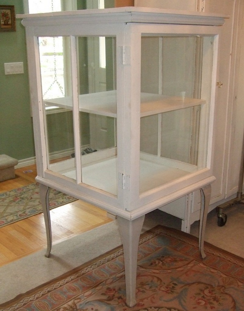 how to build a cabinet with old windows