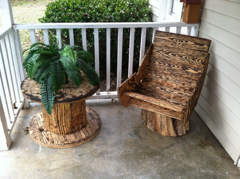 repurposed wire spool ideas cable spool table and chair