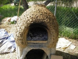 DIY Cob Oven - Rough shape with holes