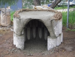 DIY Cob Oven - Shaping the base