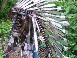 Repurposed cutlery headress