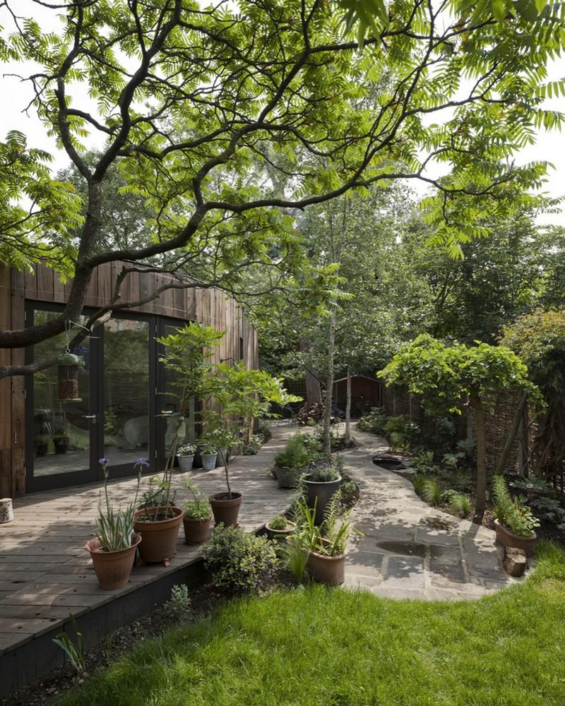Tree House - Large windows overlook the deck