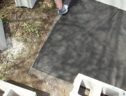 DIY Cinder Block Raised Garden Bed - Bottom