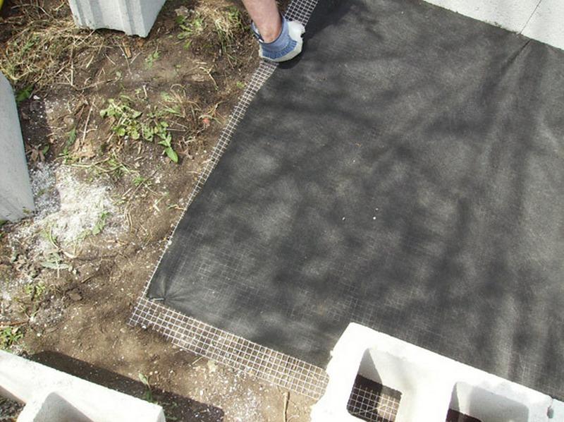 DIY Cinder Block Raised Garden Bed - Bottom