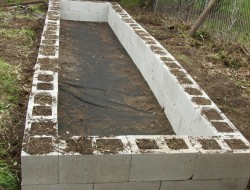DIY Cinder Block Raised Garden Bed - Done