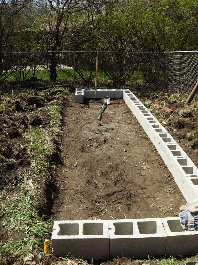 DIY Cinder Block Raised Garden Bed | The Owner-Builder Network