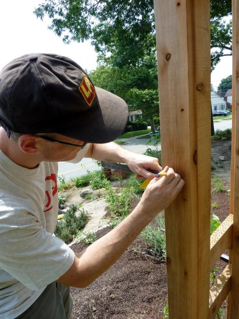 DIY Arbor Trellis - Measure twice