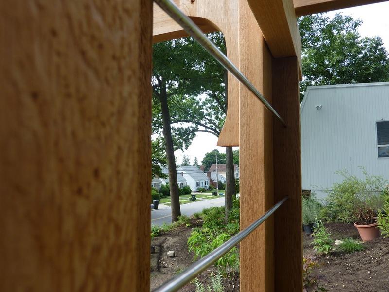 DIY Arbor Trellis - Steel rod close up