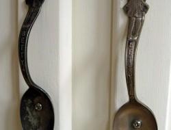 Repurposed Cutlery - Spoon door handle