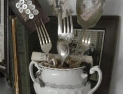 Repurposed Cutlery - Antique Silver