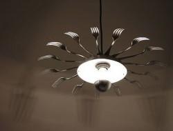 Repurposed Cutlery - Silverware Chandelier