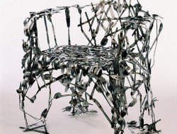 Repurposed Cutlery - Recycled Cutlery Chair
