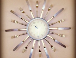 Repurposed Cutlery- Silverware Clock