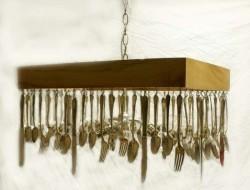 Repurposed Cutlery - Flying Fork Wall Art