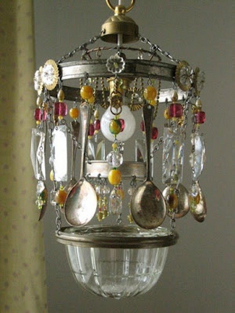 Repurposed Cutlery - Chandelier made from old spoons
