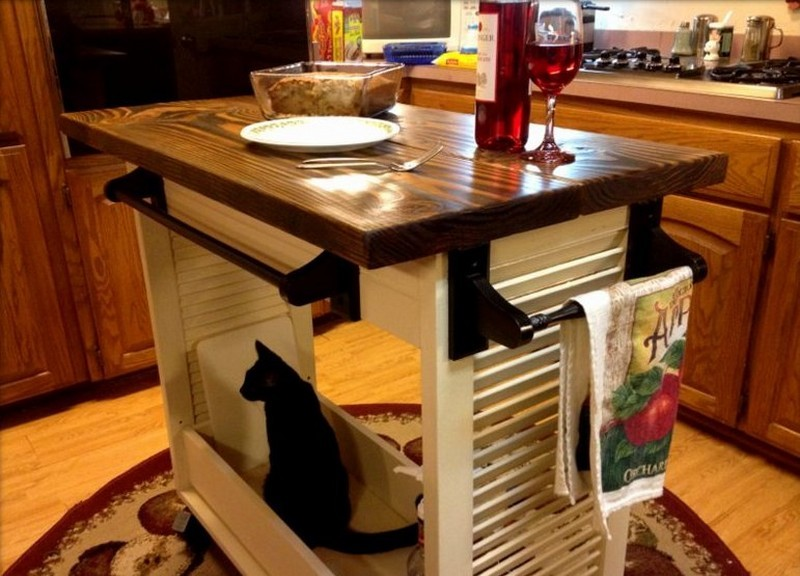 1. DIY Shutter Turned Kitchen Island - The Owner-Builder Network