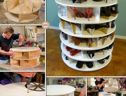 1. DIY Lazy Susan Shoe Storage - The Owner-Builder Network