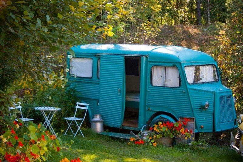 1968 Citroen HY Van Guest Bedroom