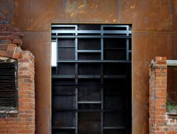 Dovecote Studio - entry during construction