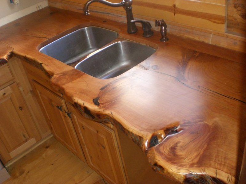 Rustic Kitchen Countertop