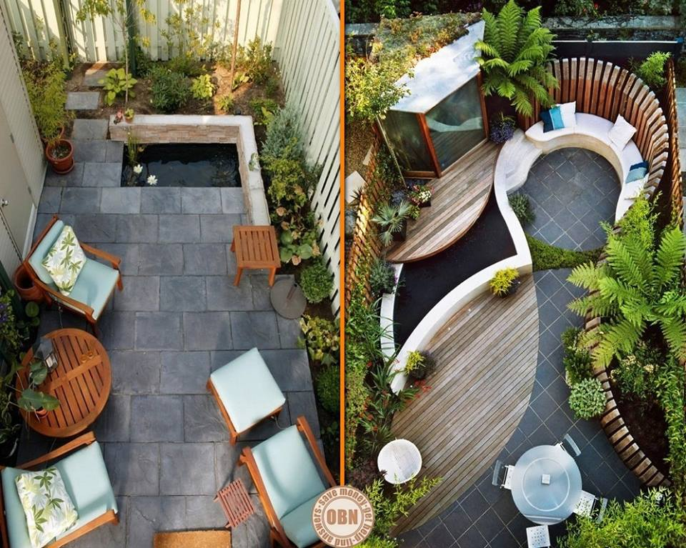 We love to find ideas on how to creatively use small spaces, and these courtyards show how you can get a real WOW factor despite space limitations!