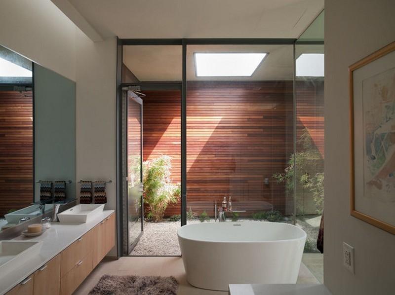 A bathroom courtyard