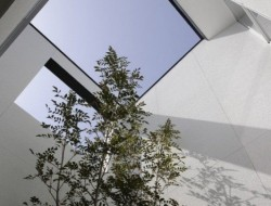 A fully enclosed courtyard