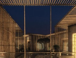 Bamboo and water courtyard
