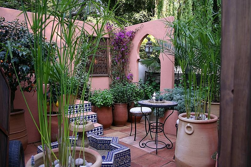 Moroccan Inspired Courtyard.