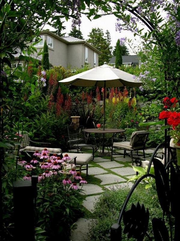Eclectic, Lush and Modern Courtyard Garden by MacQueen Design - Bainbridge Island, Washington