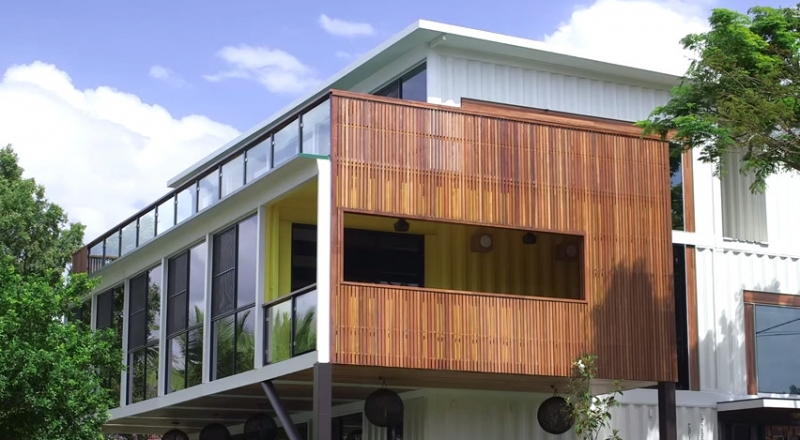 31 container home in Brisbane Australia - Facade-2