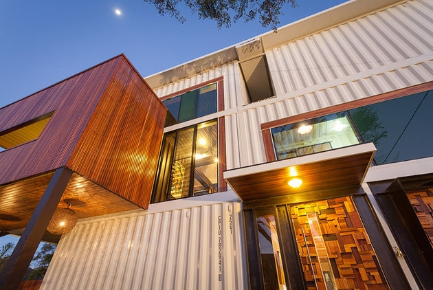 31 container home in Brisbane Australia -Facade