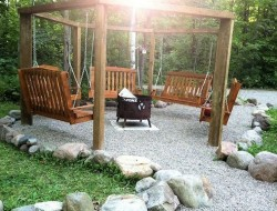DIY Fire Pit Swing Set - The Owner-Builder Network